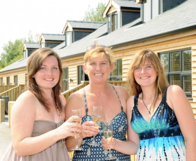L-R Vicki, Sue and Charlotte Rainford at the opening of specially built disabled friendly holiday homes in Hambleton.  The family was inspired to do so after realising the difficulties faced by people in wheelchairs when Charlotte was involved in a road traffic accident that left her needing a wheelchair.